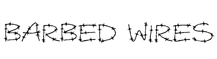 Barbed Wires  Free Fonts Download