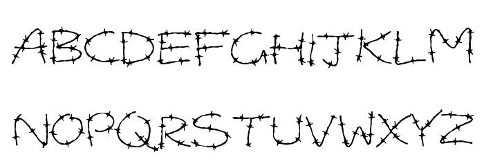 Barbed Wires Font Litere mari