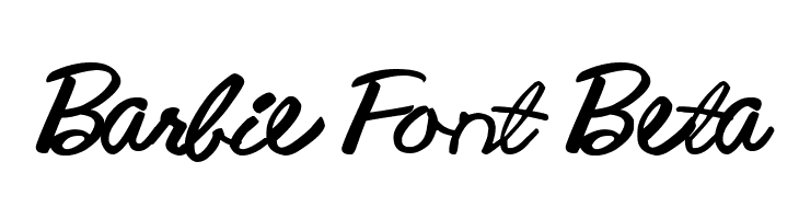Barbie Font Beta  Fuentes Gratis Descargar