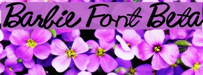Barbie Font Beta لخطوط تنزيل examples