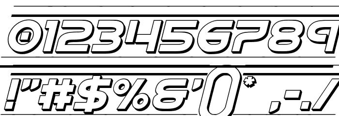 Barcade 3D Italic Fonte OUTROS PERSONAGENS
