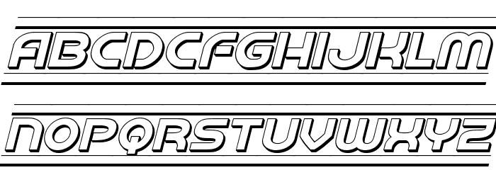 Barcade 3D Italic Fonte MAIÚSCULAS