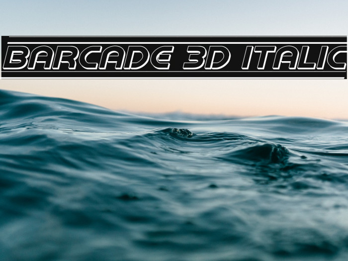 Barcade 3D Italic Fonte examples