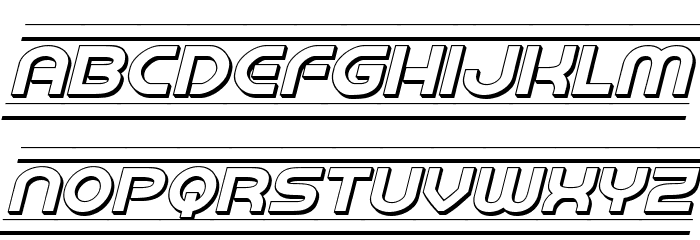 Barcade 3D Italic Fonte MINÚSCULAS