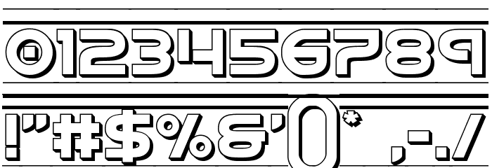 Barcade 3D Font OTHER CHARS