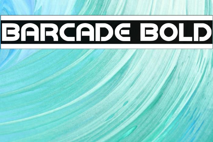 Barcade Bold Fonte examples