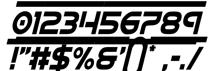 Barcade Condensed Italic Font OTHER CHARS