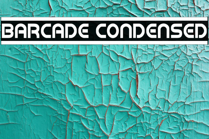 Barcade Condensed Font examples