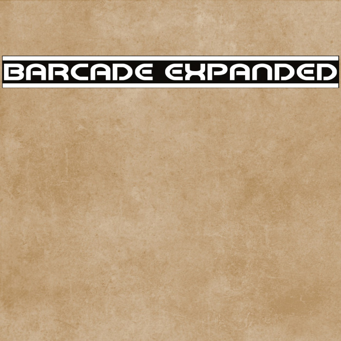 Barcade Expanded Fonte examples