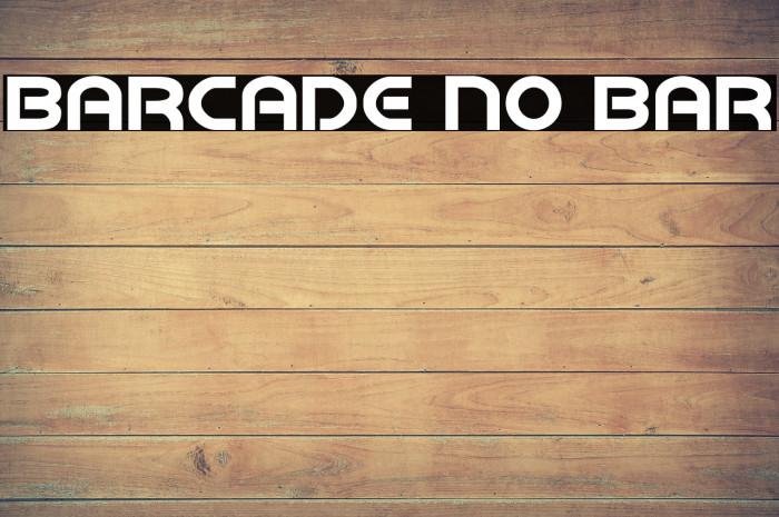 Barcade No Bar Fonte examples