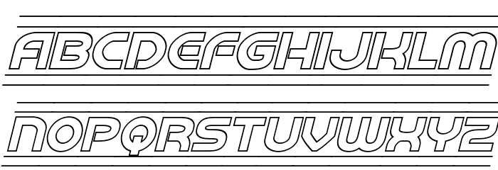Barcade Outline Italic フォント 大文字