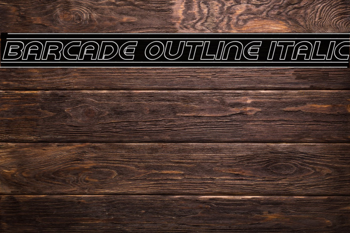 Barcade Outline Italic Font examples
