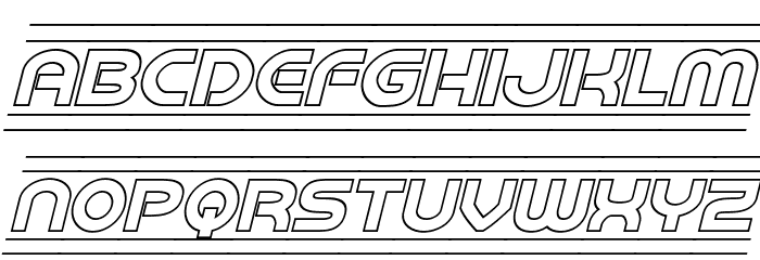 Barcade Outline Italic フォント 小文字