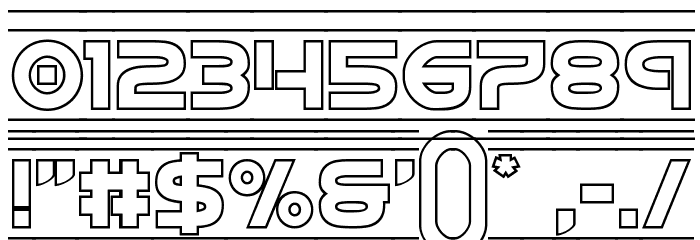 Barcade Outline لخطوط تنزيل حرف أخرى
