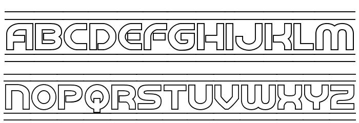 Barcade Outline フォント 大文字