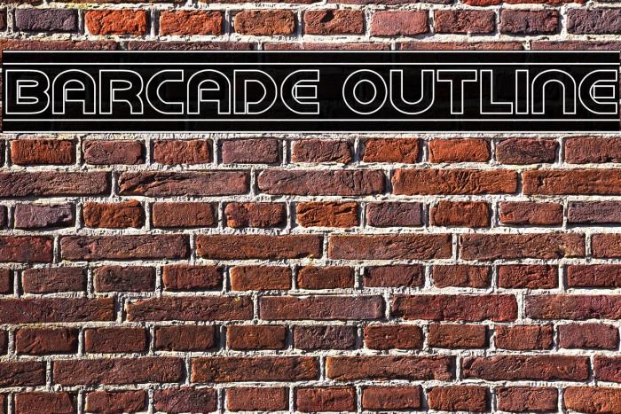 Barcade Outline Fonte examples