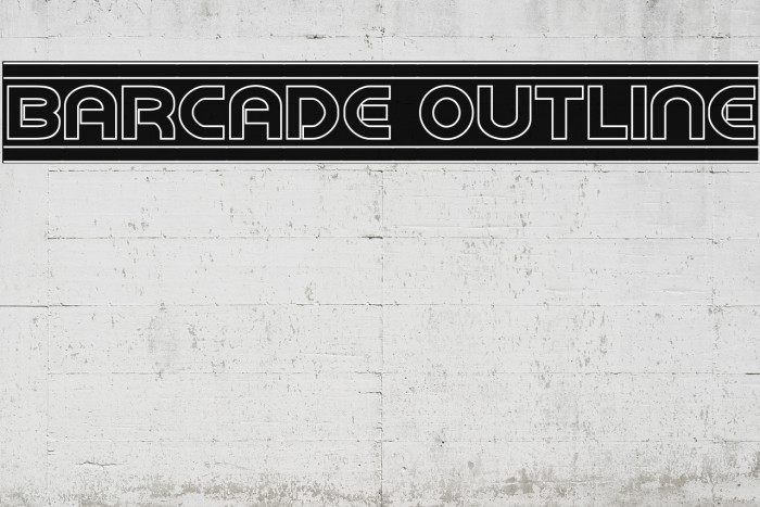 Barcade Outline Font examples