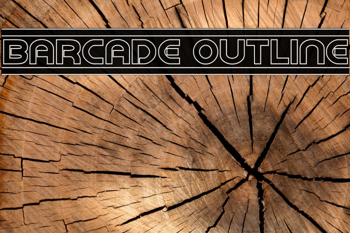 Barcade Outline フォント examples