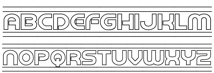 Barcade Outline Font LOWERCASE