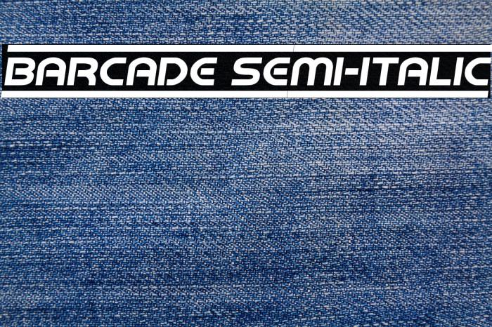 Barcade Semi-Italic Fonte examples