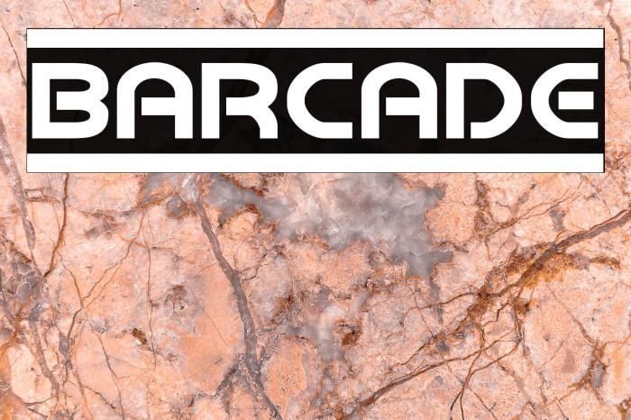 Barcade Fonte examples
