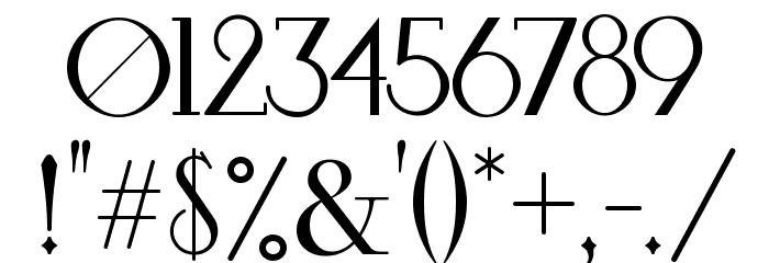 Bardo Шрифта ДРУГИЕ символов