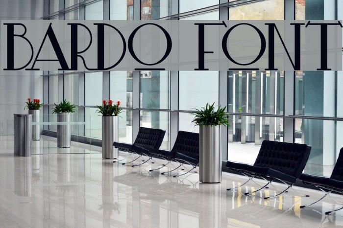 Bardo Шрифта examples