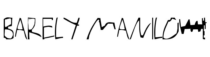 Barely Manilow  Free Fonts Download