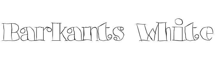 Barkants White  Free Fonts Download