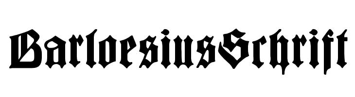 BarloesiusSchrift  Free Fonts Download