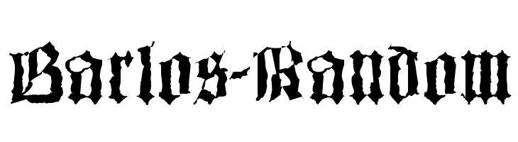 Barlos-Random  baixar fontes gratis