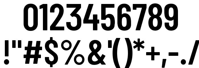 Barlow Condensed SemiBold Шрифта ДРУГИЕ символов