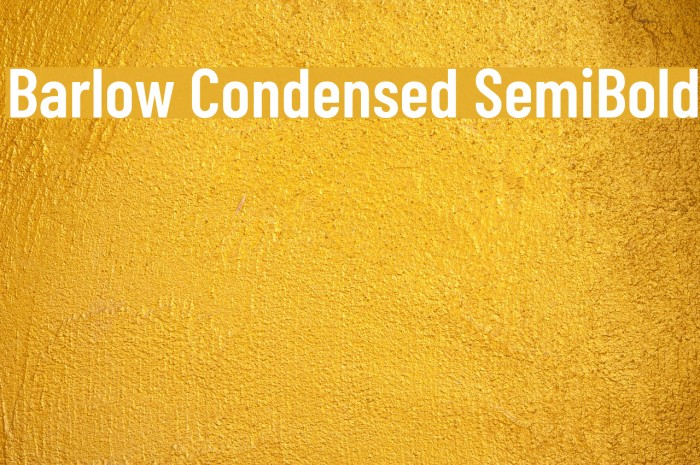 Barlow Condensed SemiBold Шрифта examples
