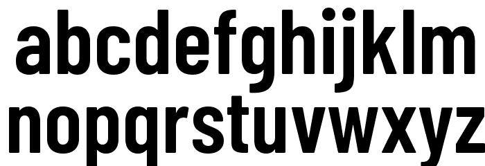 Barlow Condensed SemiBold Шрифта строчной