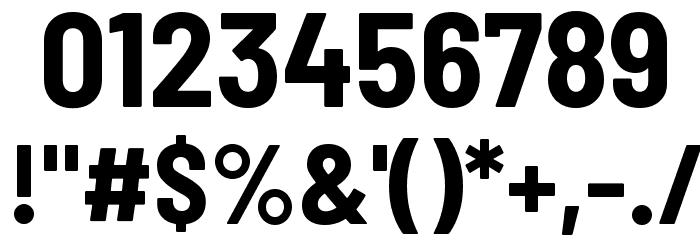 Barlow Semi Condensed Bold 字体 其它煤焦
