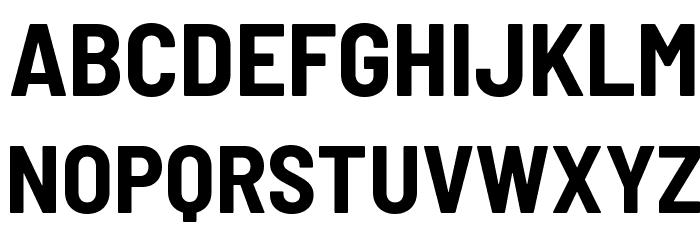 Barlow Semi Condensed Bold 字体 大写