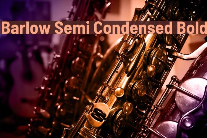 Barlow Semi Condensed Bold 字体 examples