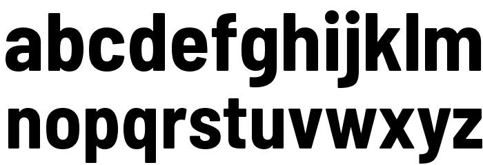 Barlow Semi Condensed Bold 字体 小写