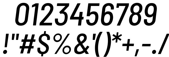 Barlow Semi Condensed Medium Italic Font OTHER CHARS