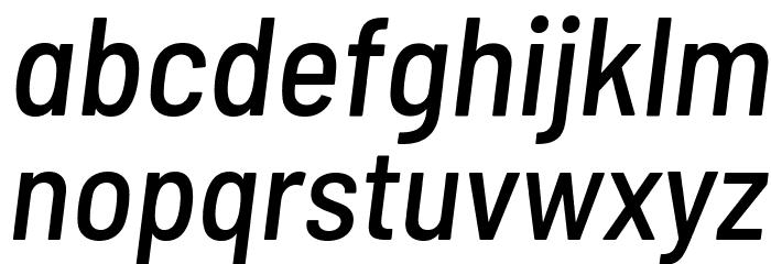 Barlow Semi Condensed Medium Italic Font LOWERCASE