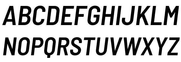 Barlow Semi Condensed SemiBold Italic फ़ॉन्ट अपरकेस