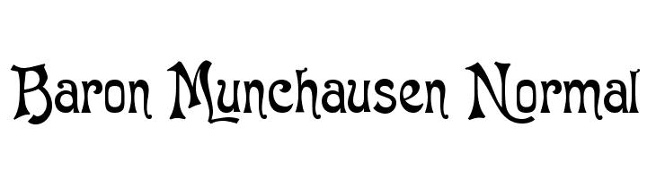 Baron Munchausen Normal  Free Fonts Download