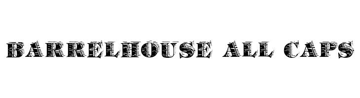Barrelhouse All Caps  Free Fonts Download