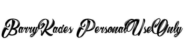 Barry Kades_PersonalUseOnly  Скачать бесплатные шрифты