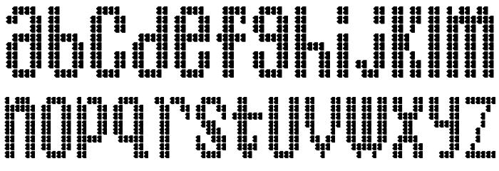 BartonBus Font LOWERCASE