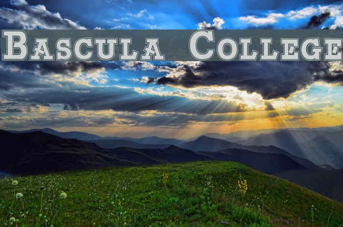 Bascula College 字体 examples