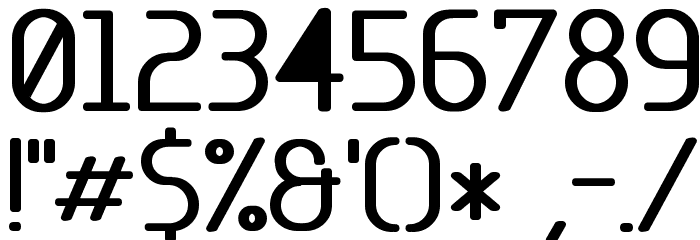 Base-5 Font OTHER CHARS