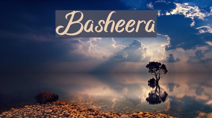 Basheera Шрифта examples