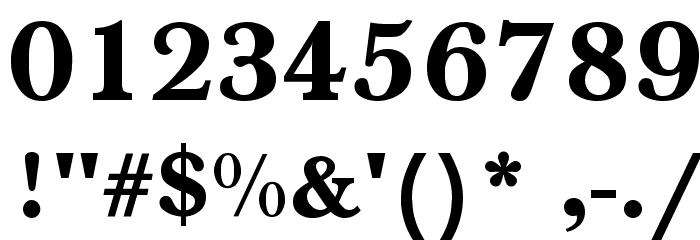 Baskerville-Normal-Bold Font OTHER CHARS