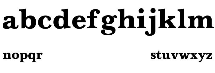 Baskerville-Normal-Bold Font LOWERCASE